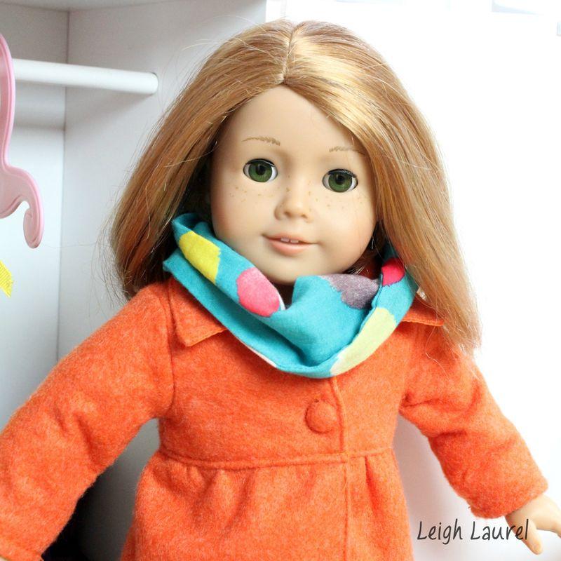 American Girl infinity scarf tutorial by karin jordan