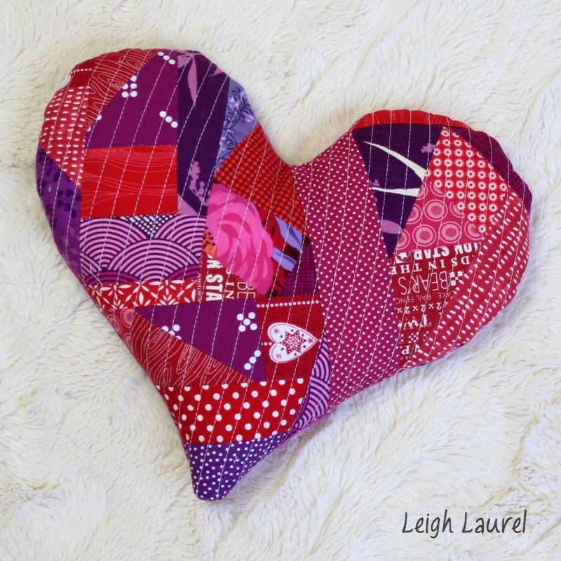 Quilted heart heat pack by karin jordan for sizzix