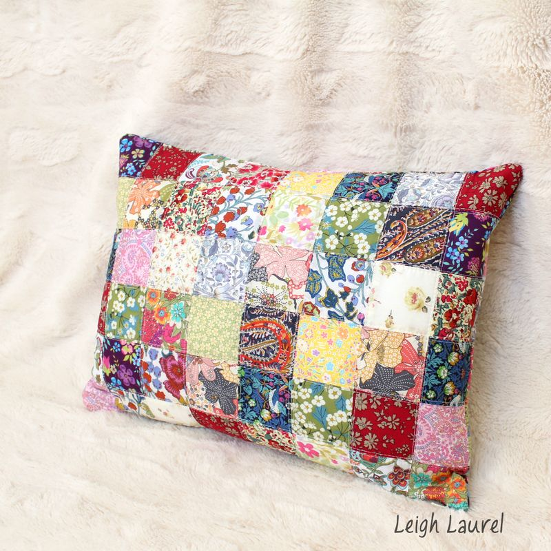 Scrappy liberty pillow by karin jordan