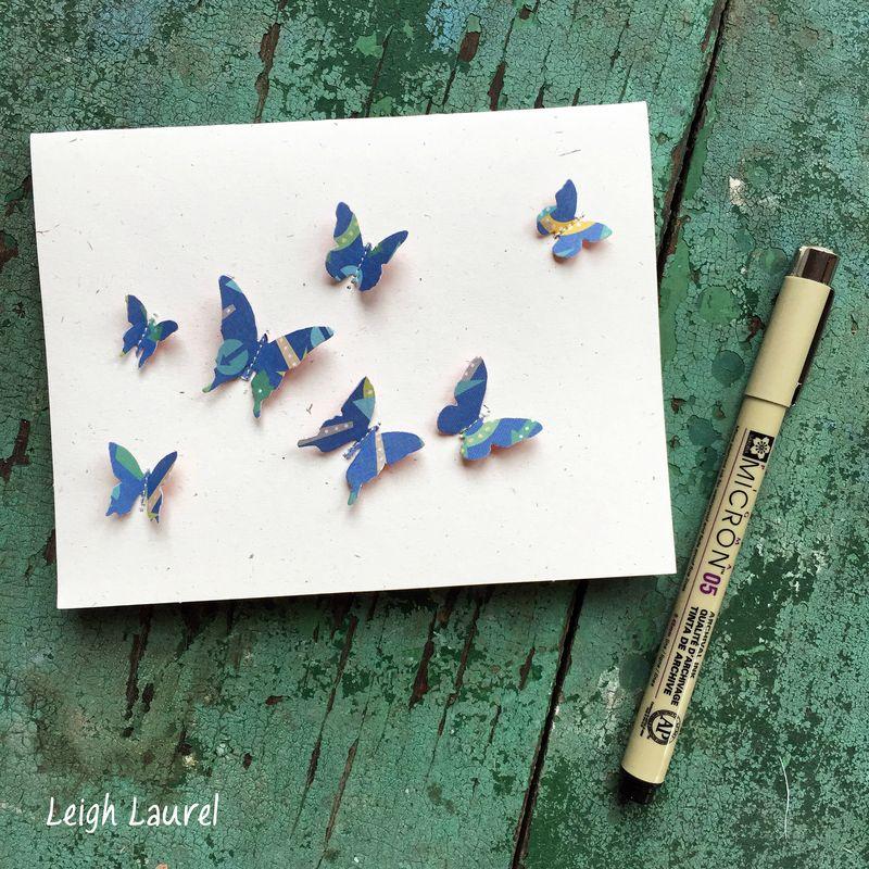 Butterfly card by karin jordan