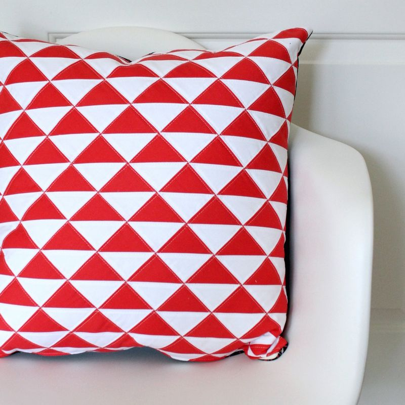 On point triangle pillow 1