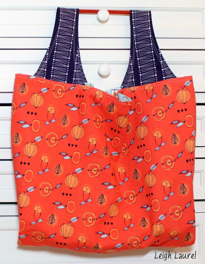 Fruit stand grocery bag by karin jordan
