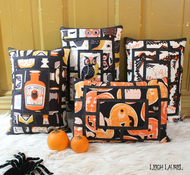 Peek halloween pillows by karin jordan - pattern by melanie tuazon