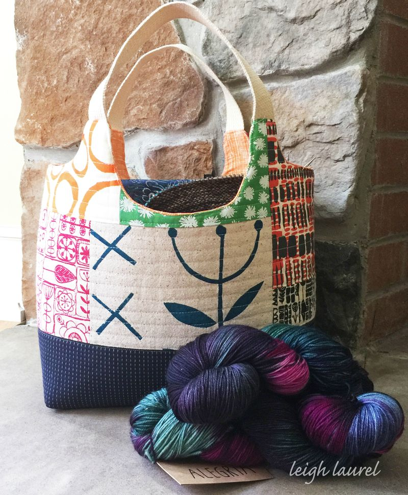 Tessa basket for yarn by karin jordan