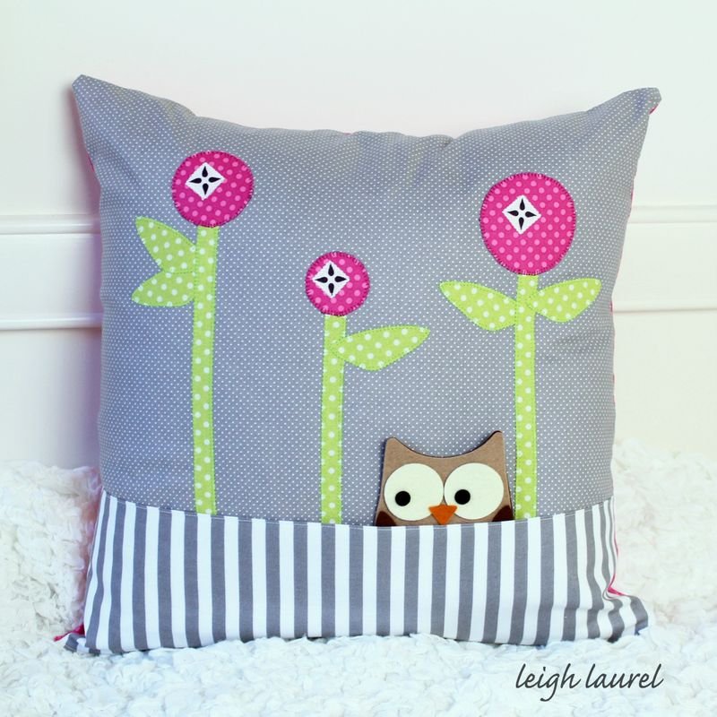 Pocket pillow by karin jordan for sizzix