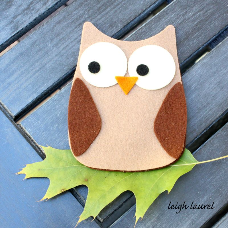 Felt owl by karin jordan for sizzix