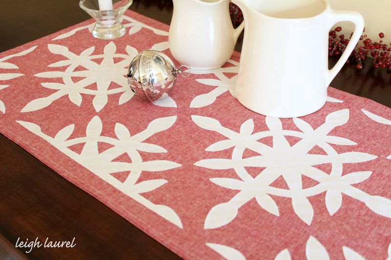 Scandinavian table runner 3 by karin jordan
