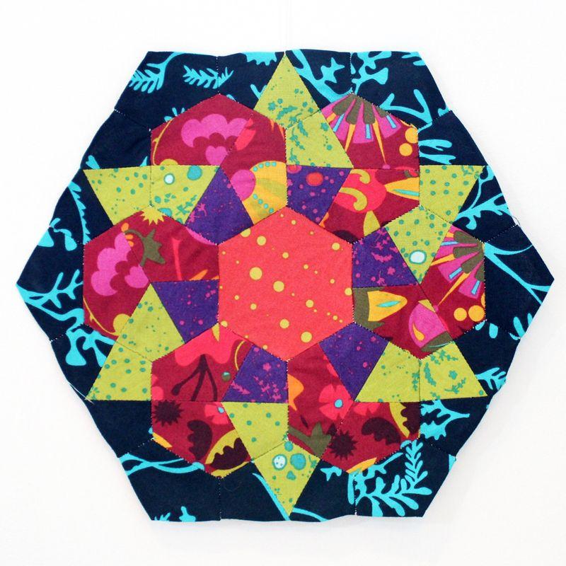 Rose star block