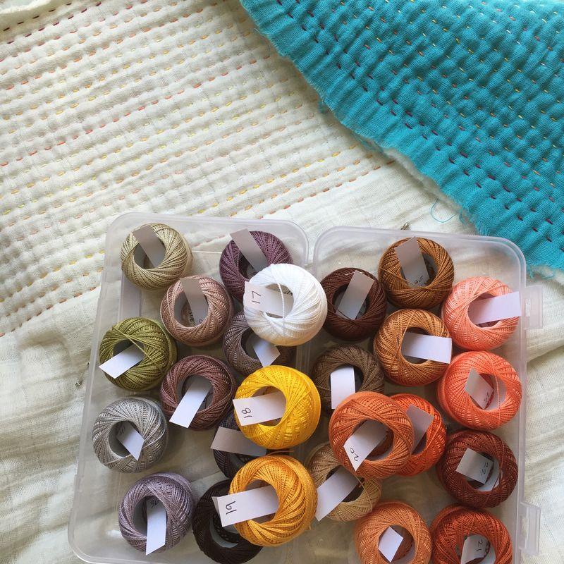 Whole cloth double gauze quilt 2