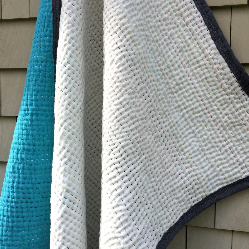 Whole cloth double gauze quilt 10