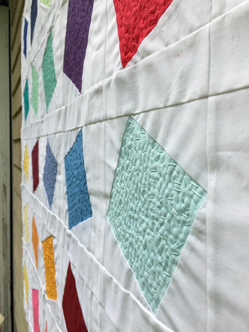 Confetti quilt detail 1