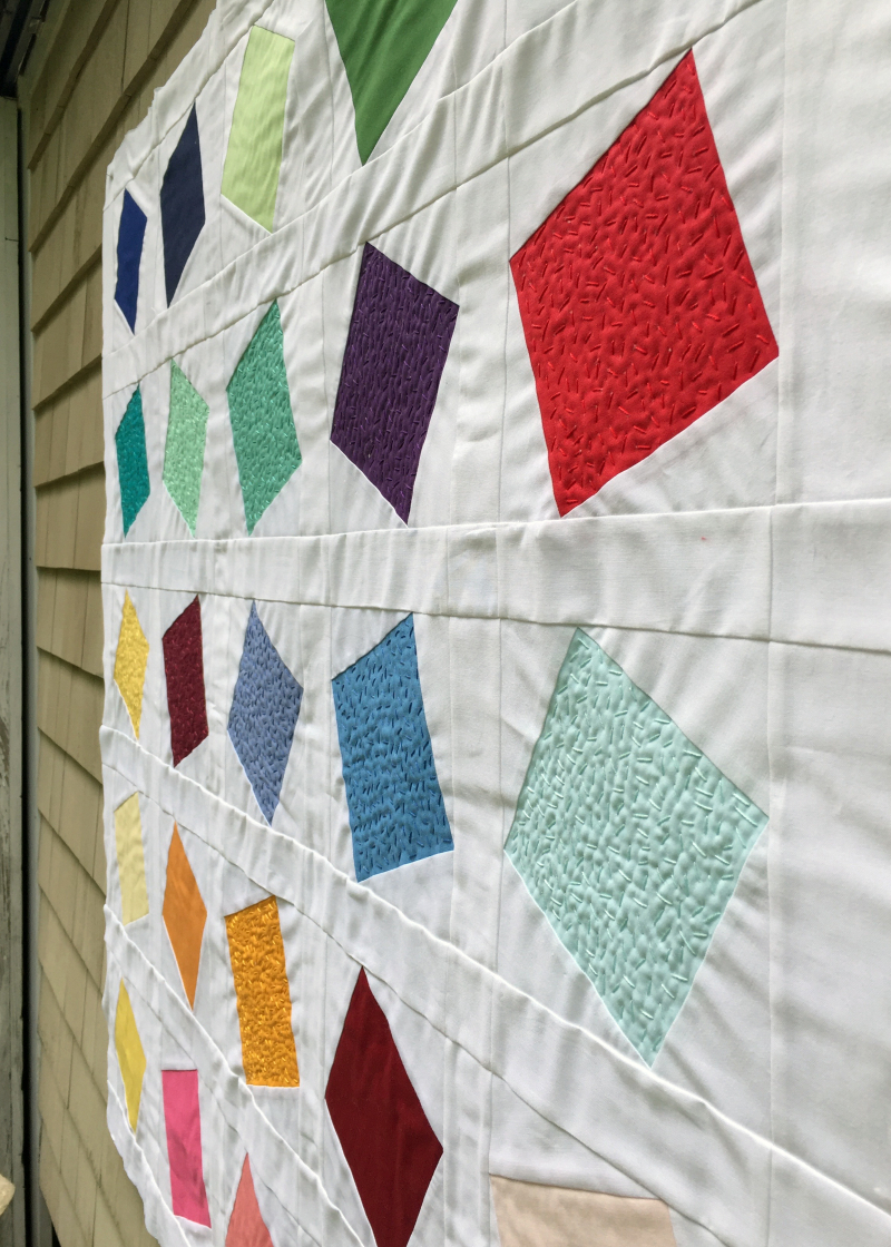 Detail of confetti quilt 2