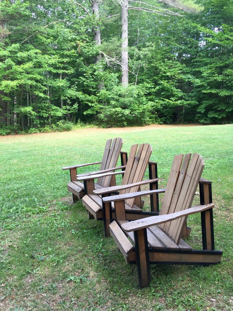 21. Adirondak chairs at Camp Medomak
