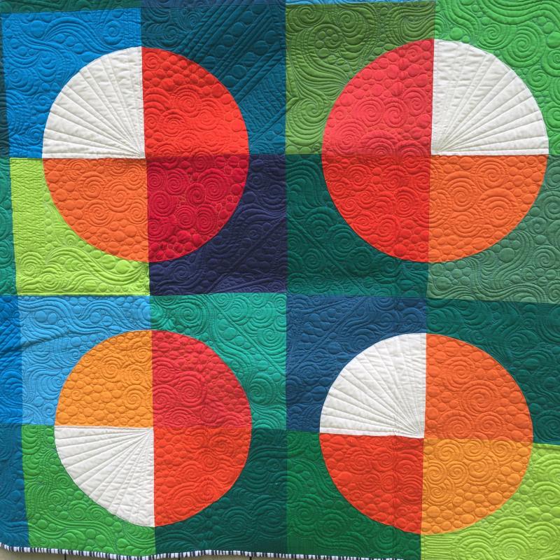 Detail4 of fame quilt by karin jordan
