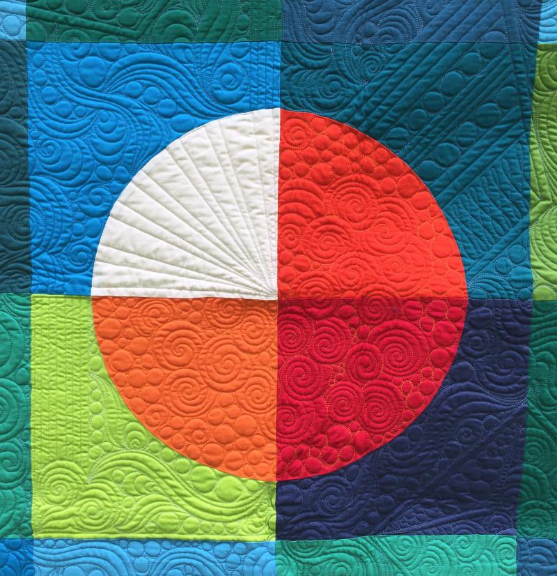 Detail of fame quilt by karin jordan