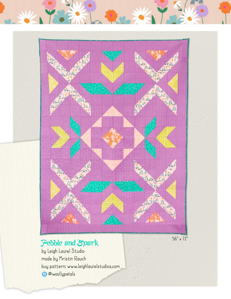 Pebble & Spark quilt by Karin Jordan in Daisy Chain by Annabel Wrigley for Windham Fabrics