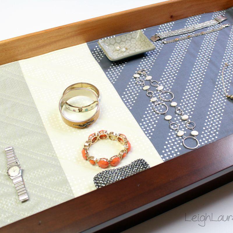 Quilted jewelry drawer liner by karin jordan  leigh laurel studios tutorial