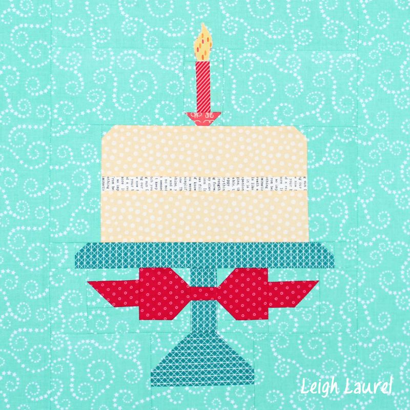 Birthday cake quilt block - pattern by lori holt made by karin jordan