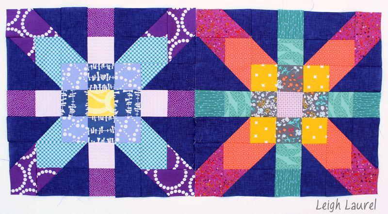 Supernova quilt blocks by karin jordan