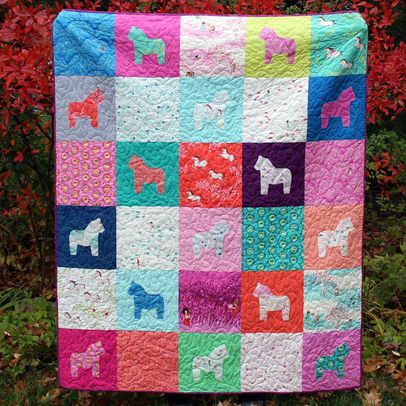 Dala horse quilt - tutorials