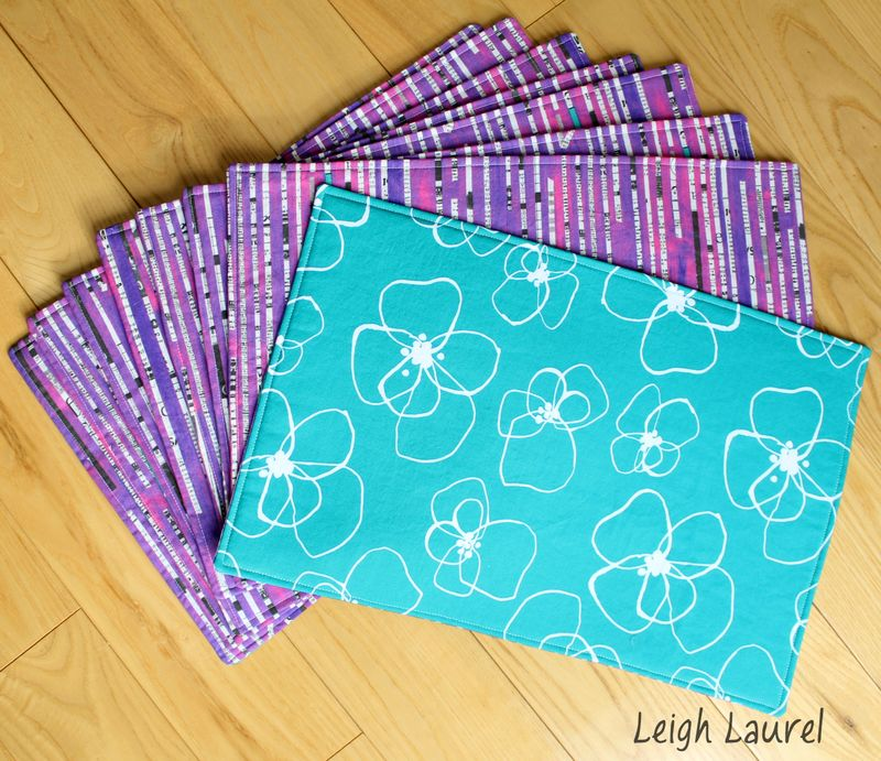 Reversible placemats 4 - tutorial by karin jordan