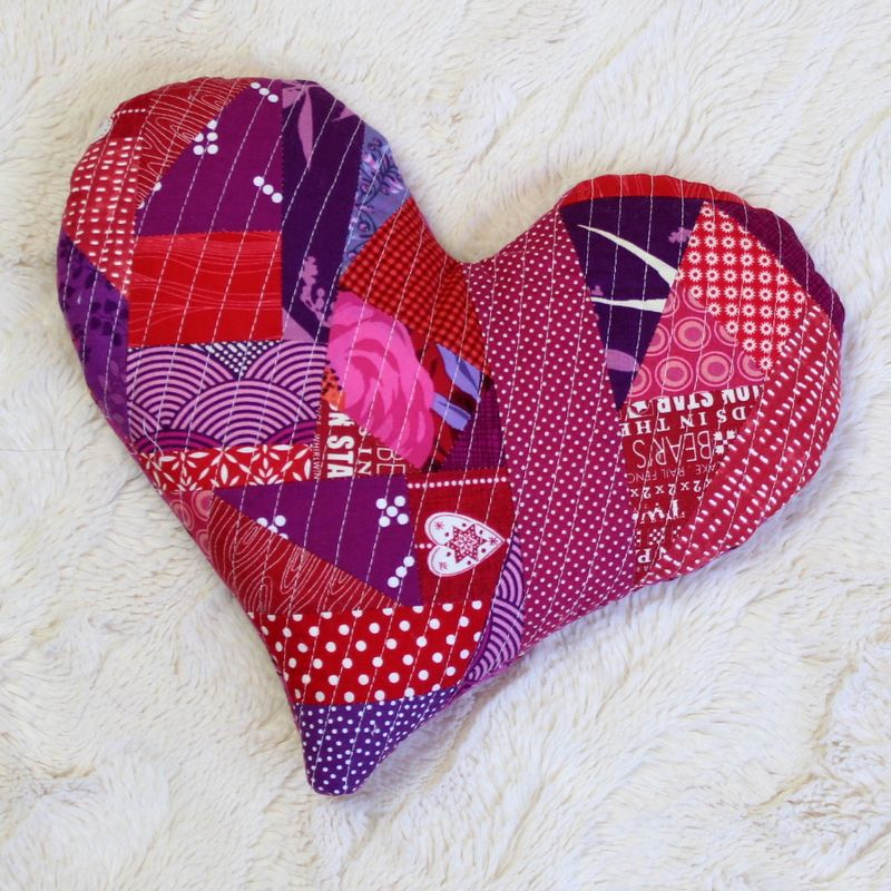 Quilted heart heat pack 2