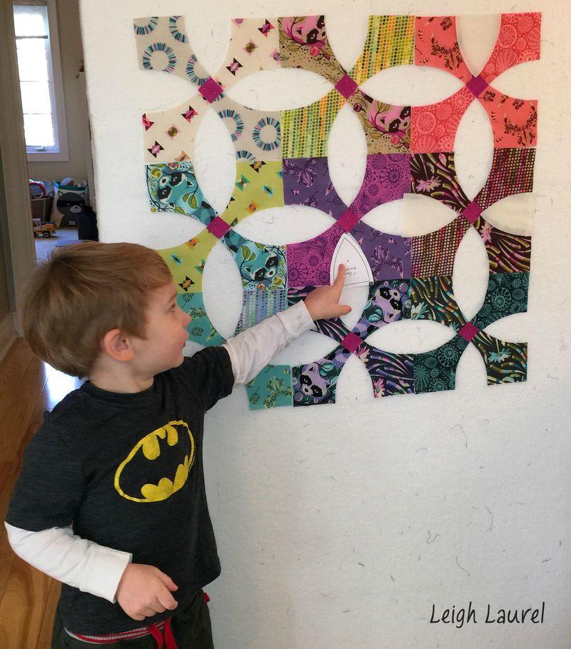 Snowball mini on design wall - karin jordan