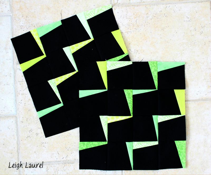 Lightning zigzag blocks by karin jordan