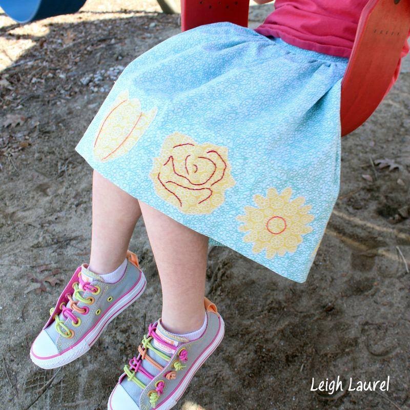 Flower skirt 4 by karin jordan