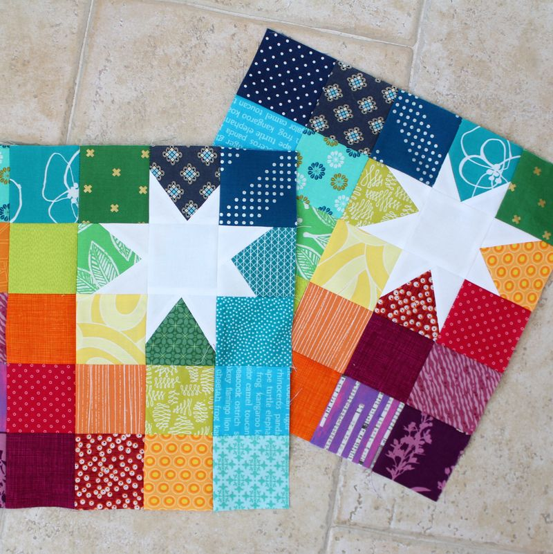 Rainbow reverse star blocks2 projects
