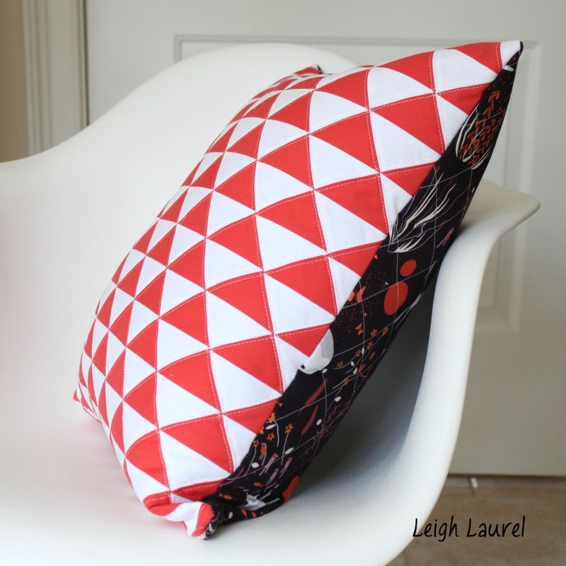 On point triangle pillow 6 by karin jordan
