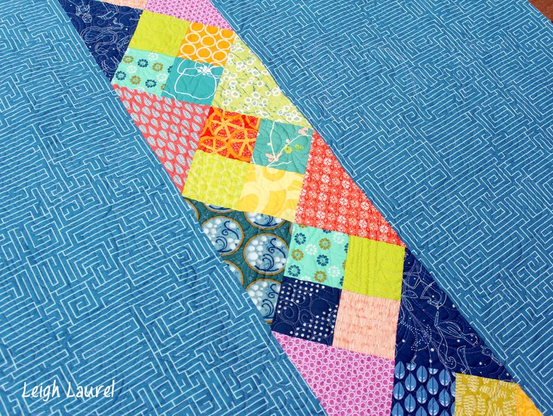 Corn and beans quilt back by karin jordan
