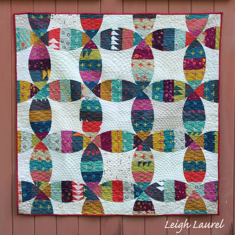 Melon wedding ring quilt 1 by karin jordan