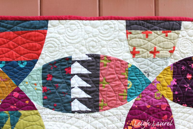Melon wedding ring quilt detail by karin jordan