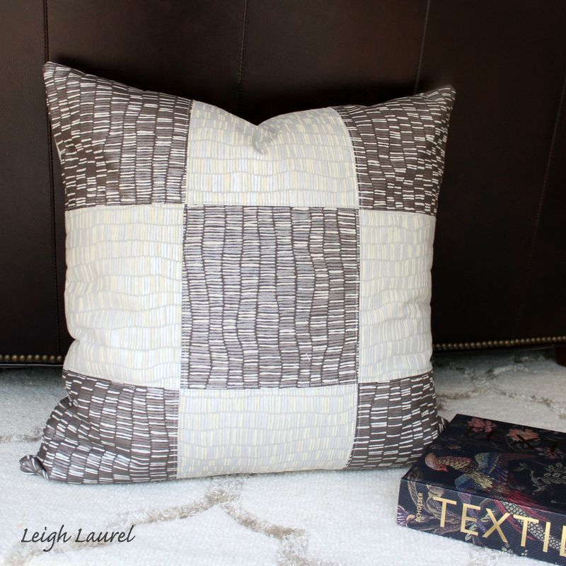 Shimmer pillow front - by karin jordan