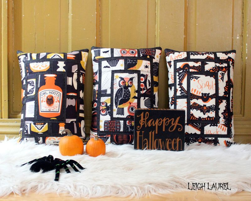 Peek halloween pillows by karin jordan - a pattern by melanie tuazon