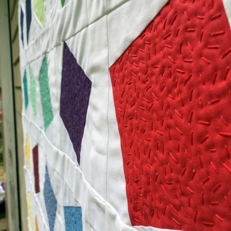 Confetti quilt detail 2